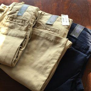 Aeropostale khaki and navy pants. Classic low cut